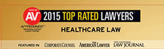 Logo Recognizing Law Offices Of Robert David Malove's affiliation with AV 2015 Top Rated Lawyers Healthcare