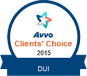 Logo Recognizing Law Offices Of Robert David Malove's affiliation with AVVO Clients Choice 2015 DUI