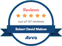 Logo Recognizing Law Offices Of Robert David Malove's affiliation with AVVO Reviews