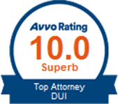 Logo Recognizing Law Offices Of Robert David Malove's affiliation with AVVO Top Attorney DUI