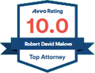 Logo Recognizing Law Offices Of Robert David Malove's affiliation with AVVO Top Attorney