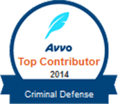 Logo Recognizing Law Offices Of Robert David Malove's affiliation with AVVO Top Contributor 2014 Criminal Defense