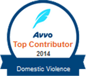 Logo Recognizing Law Offices Of Robert David Malove's affiliation with AVVO Top Contributor 2014 Domestic Violence