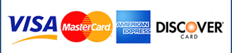 We accept VISA, MasterCard, AMEX, & Discover