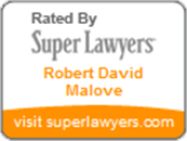 Logo Recognizing Law Offices Of Robert David Malove's affiliation with Super Lawyers